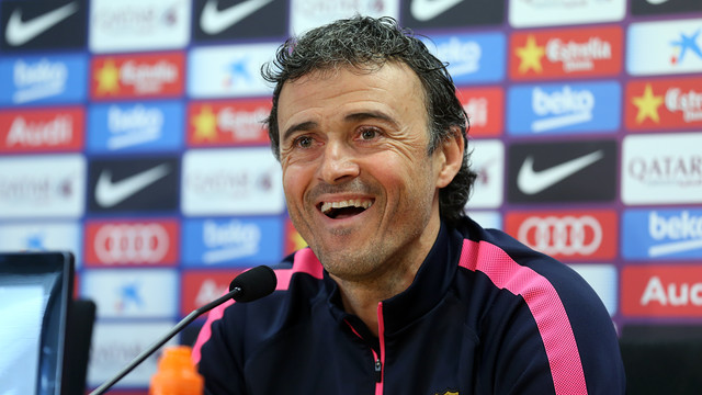 Luis Enrique spoke to the press on Saturday morning / PHOTO: MIGUEL RUIZ - FCB