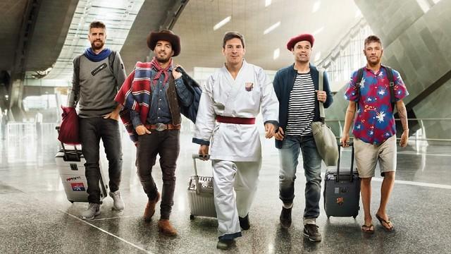 Piqué, Suárez, Messi, Iniesta and Neymar are the stars of the new Qatar Airways advert