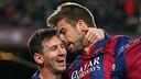Messi et Piqué après un but / MIGUEL RUIZ-FCB