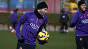Mascherano was among the players that trained on Saturday morning/ MIGUEL RUIZ-FCB