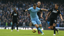 Man City's Edin Dzeko in action in the 1-1 draw at home to Hull City / www.mcfc.com