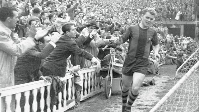 El 10 de febrero del 1952 Kubala marcó siete goles en Les Corts contra el Sporting de Gijón