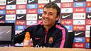 Luis Enrique s'ha mostrat molt optimista de cara al partit / MIGUEL RUIZ - FCB
