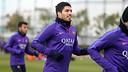 Luis Suárez in a training session / MIGUEL RUIZ-FCB.