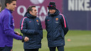 Luis Enrique was speaking to the press after training on Saturday / PHOTO: MIGUEL RUIZ - FCB