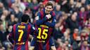 Messi célèbre son but contre Levante/ MIGUEL RUIZ-FCB