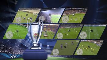 Design foto dari piala Champions