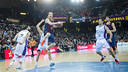 Huertas in the game against Unicaja earlier in the season at the Palau. PHOTO: FCB Archive