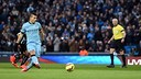 Agüero opened the scoring for Man City against Newcastle / MCFC.COM