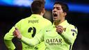 Suárez celebrates a goal against City/ MIGUEL RUIZ - FCB