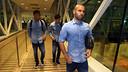 Mascherano, Neymar y Messi, antes de viajar a Granada / MIGUEL RUIZ-FCB.