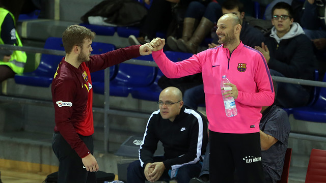 Saric and Pérez de Vargas, Barça handball keepers / Miguel Ruiz-ARCHIVE FCB
