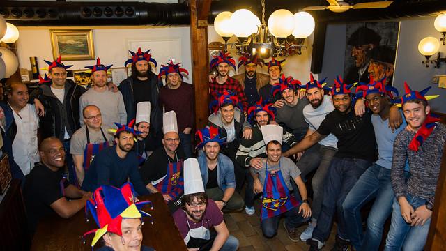 Cuiners i malabaristes del Barça d'handbol / FOTO: Germán Parga FCB