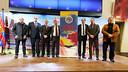 Poster presentation of the Trobada de Penyes Barcelonistes de l'Empordà i la Catalunya Nord. Photo: Miguel Ruiz - FCB
