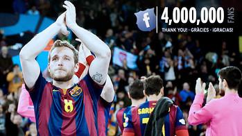 El Facebook del Barça d'handbol supera els 4 milions de Fans / FOTO:FCB