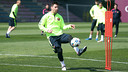 Leo Messi trains during Tuesday's session. / MIGUEL RUIZ-FCB