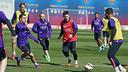 Leo Messi, durante un entrenamiento / ARCHIVO FCB