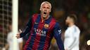 Mathieu célèbre son but pour l'ouverture du score / MIGUEL RUIZ-FCB