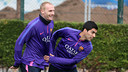 Mathieu and Luis Suárez attended the Tuesday session / MIGUEL RUIZ-FCB