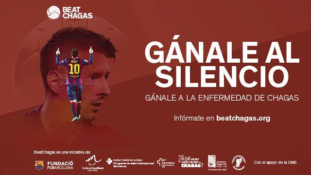 Imagen de la campaña con la cara de Messi
