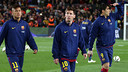 Lionel Messi with Luis Suárez and Neymar / MIGUEL RUIZ - FCB