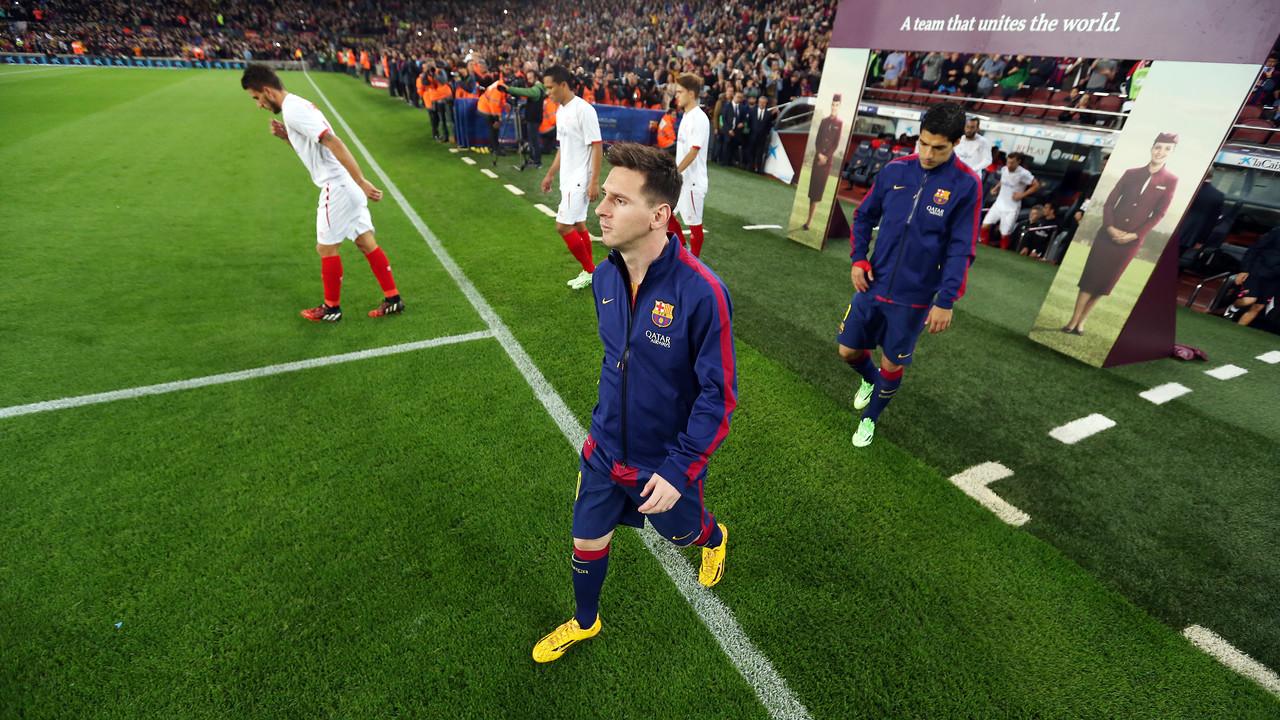 Messi, sebelum laga kontra Sevilla / MIGUEL RUIZ-FCB