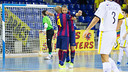Ferrao was one of the scorers on the road at Santiago Futsal / FCB ARCHIVE