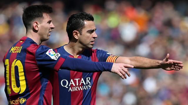 Messi and Xavi together / MIGUEL RUIZ-FCB