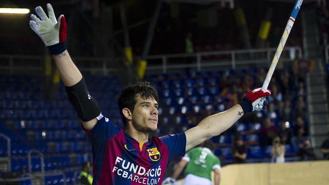 Pablo Álvarez celebrates a goal