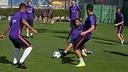 FC Barcelona players train on Field 2 at the Ciutat Esportiva in Sant Joan Despí on Monday 13 April 2015. / MIGUEL RUIZ - FCB