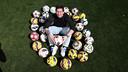 Leo Messi, et ses ballons de hat-tricks / MIGUEL RUIZ - FCB