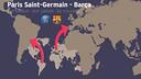 El mapa mundi del PSG - BARÇA / FCB
