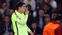 Luis Suárez was thrilled to find the target twice at the Parc des Princes / MIGUEL RUIZ - FCB