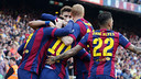 FC Barcelona beat Valencia 2–0 at Camp Nou on Saturday afternoon on goals from Luis Suárez and Lionel Messi. / MIGUEL RUIZ-FCB