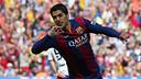 Suarez a inscrit son but après 53 secondes de jeu contre Valence/ Photo: Miguel Ruiz