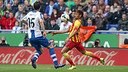 Neymar settles the ball in a last year's match at Espanyol. / MIGUEL RUIZ-FCB