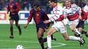 Rivaldo, en una acción del partido de la fase de grupos del curso 1998/99 / ARCHIVO-FCB