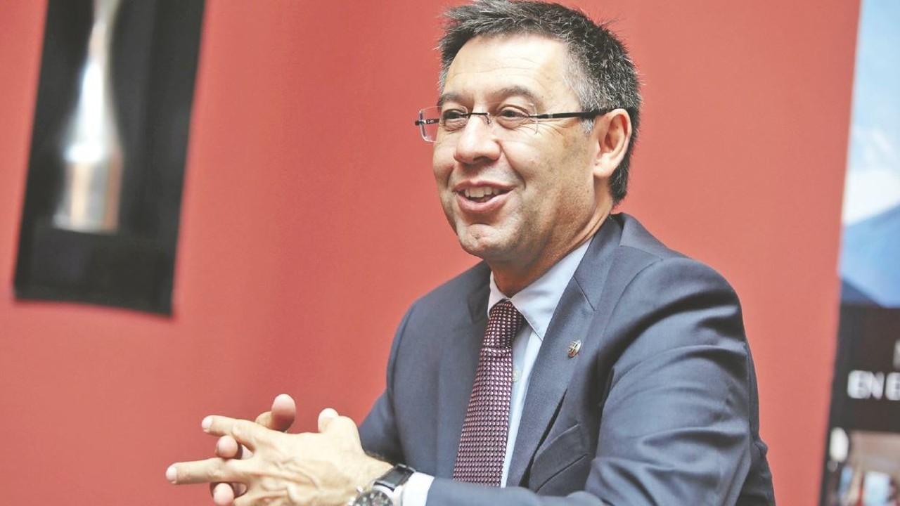 Josep Maria Bartomeu, atenent mitjans panamenys / LA PRENSA DE PANAMÁ