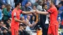Xavi has replaced Iniesta / MIGUEL RUIZ - FCB