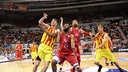 FC Barcelona showed no signs of fatigue in Sunday's runaway victory. / ACB PHOTO