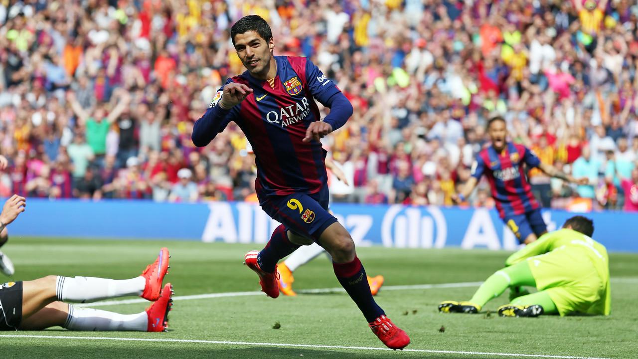 Suárez, a l'últim partit de Lliga a casa / MIGUEL RUIZ-FCB