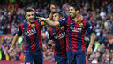 Xavi, Rafinha and Suárez in a stunning victory against Getafe / MIGUEL RUIZ-FCB