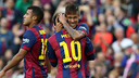 Messi and Neymar Jr both found the target on Tuesday. / MIGUEL RUIZ-FCB