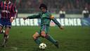 Bakero, lors de la confrontation entre le Bayern et le Barça en 1996 / ARCHIVES FCB