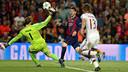 Messi, au moment du deuxième but / MIGUEL RUIZ-FCB