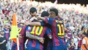 Barça's 2–0 win over Real Sociedad on Saturday was their 47th of the season and 32nd by shutout.  / VÍCTOR SALGADO-FCB