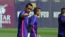 Bravo, durante el entrenamiento de este domingo / MIGUEL RUIZ-FCB