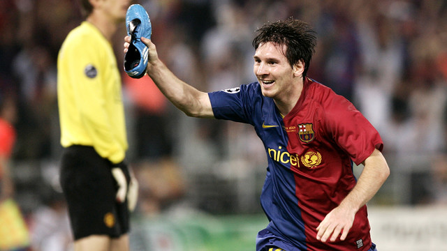Messi celebrating in Rome / MIGUEL RUIZ-FCB