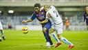 Dongou fue el autor del gol azulgrana en el partido de la primera vuelta / ARXIU FCB
