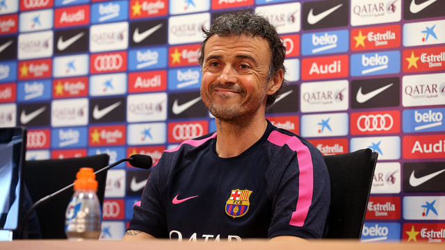 Luis Enrique knows Barça are close, but thay they haven't won anything just yet./ MIGUEL RUIZ-FCB
